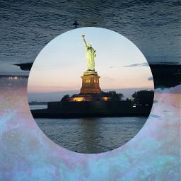 circle nyc newyorkcity newyork statueofliberty freetoedit
