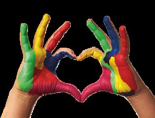 heart hands watercolor freetoedit