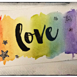 stamping watercolour edited border love