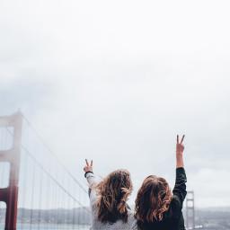 freetoedit girls peace bestfriends travel