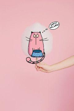 pinkstickers pink pinkday cottoncandy cat
