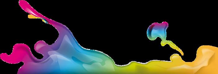 colorful splash color paint freetoedit