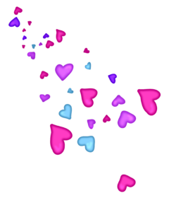hearts colour floating freetoedit