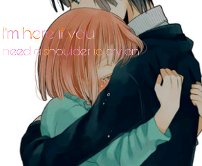 anime girl boy love tears
