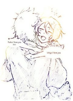 freetoedit rukia ichigo love