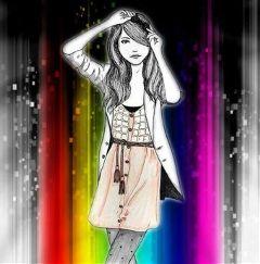 freetoedit background madebyme colorful girl