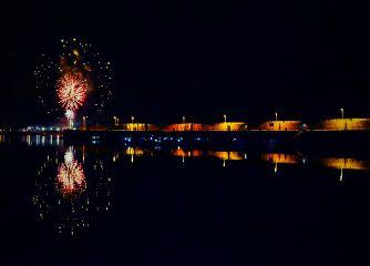 night city citylights fireworks photography