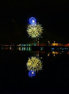 night city citylights photography fireworks