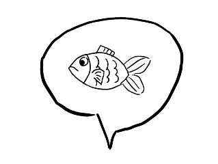 ftestickers fish speechbubble drawing freetoedit