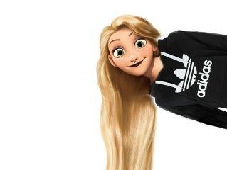 rapunzel tumblr teenager adidas adidasgirl