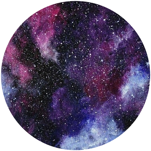Icon Circle Space Galaxy Sticker By Sarah Woodward