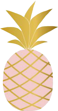 love pink gold pineapple