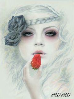 strawberryremix womanportrait