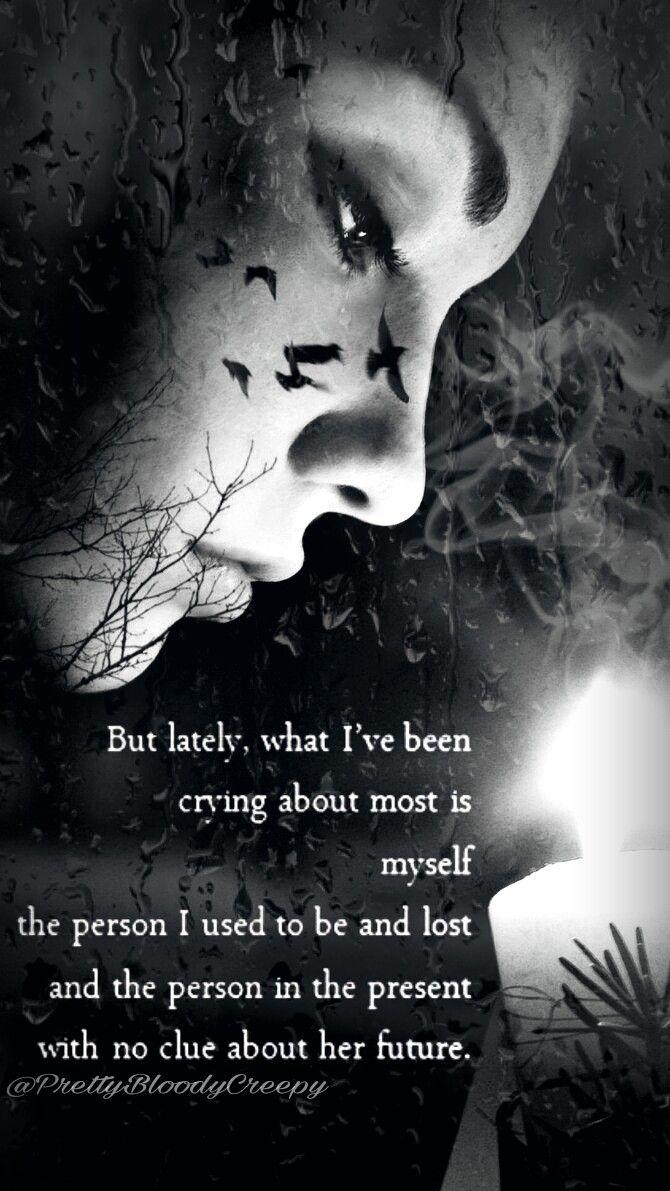 Myedit Girl Sad Quote Depressed Alone Candle Light Rain