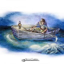 illustration mermaidmelody marineman boatonthelake candlelight