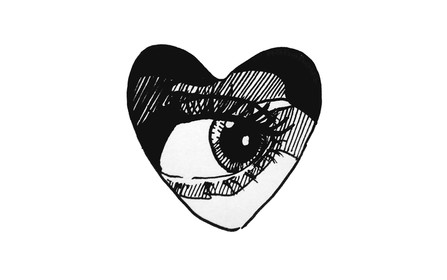 Ftestickers Eye Heart Love Comics Drawing Cool Tumblr