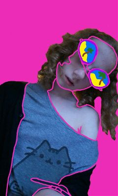 freetoedit creativeselfiecontest pink draw outline