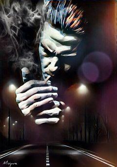 freetoedit lovers kiss smoke face