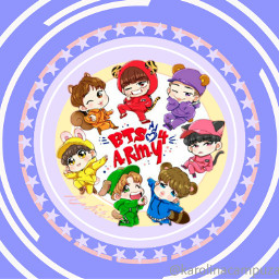 bts sticker chibi bangtanboys cute