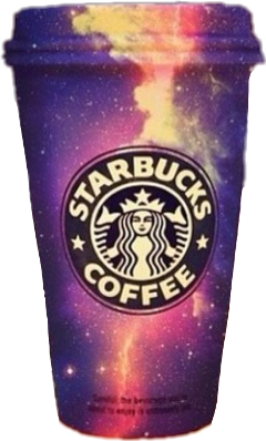 starbucks love coffee galaxy freetoedit
