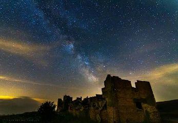 castle sky stars summer nature freetoedit