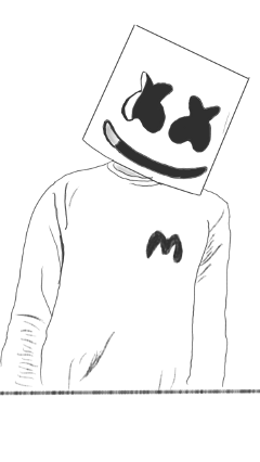 music marshmello star linedrawing awesome