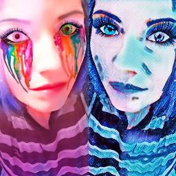 freetoedit remix faces double art