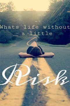 life risk road girl sunset