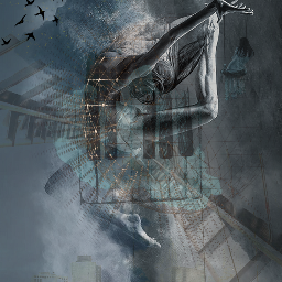 doubleexposure surreal emotions drawing myedit wapsceneryshapes