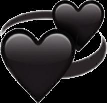 сердечки чёрные freetoedit