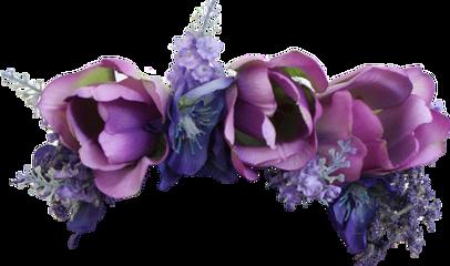 flower flowers crown flowerscrown purple