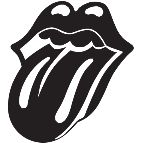 Rolling Stones Black Tunge Lips Band Symbol