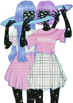 girl gemini space alien et