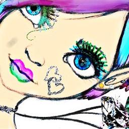 freetoedit nymph fairy girl picsart