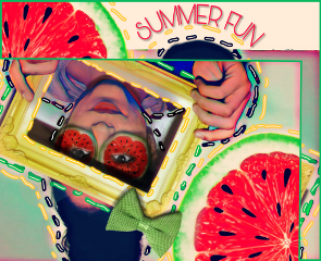 freetoedit fruit summerfun watermelon frame