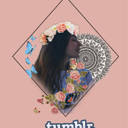 tumblr flower butterfly stickers