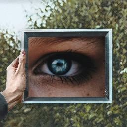 freetoedit eyes green surreal edit