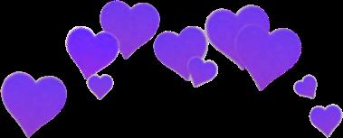 aesthetic heart purple crown freetoedit