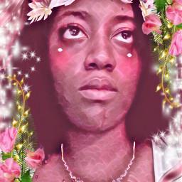 snapchat flowerfilter necklace magiceffectprettypink flowerframe freetoedit