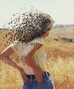 freetoedit girl woman hair nature
