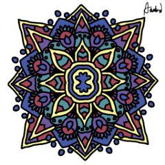 wdpmandala mandala drawnwithpicsart color colorful