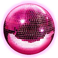 sticker ball mirrorball discoball mirror