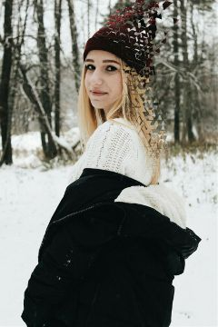 freetoedit girl woman snow nature