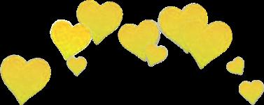 heart hearts yellow sad.ann freetoedit
