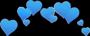 heart hearts blue sad.ann freetoedit