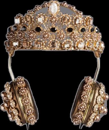 #headphones #diamonds #gold #tumblr #crown #rihanna#freetoedit