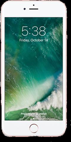 iphone rosegold phone screen lockscreen