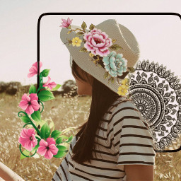 mandala flower flowercrown