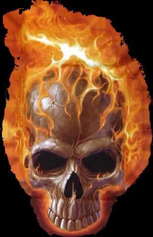 #fire #skull #ghost