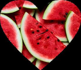 watermelon heart fruit freetoedit